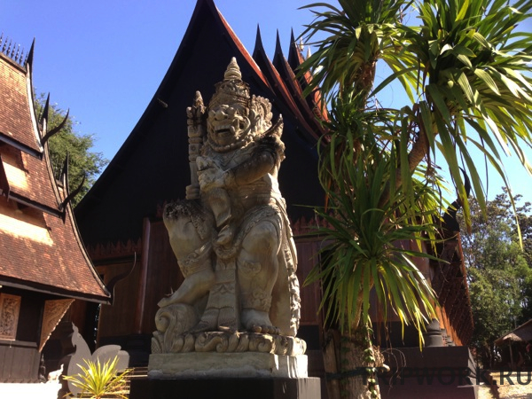 black temple in Chiangrai 38 Черный дом в Чианг Рай   кошмар наяву